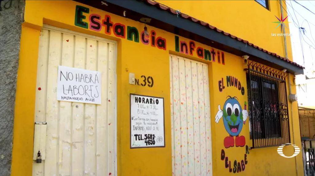 La estancia infantil 'Mundo del Saber'' ubicada en la calle Tehuixtla, delegación Coyoacán, en la Ciudad de México. (Noticieros Televisa)
