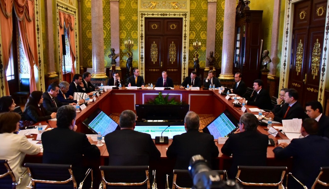 Meade participó en la Primera Sesión Ordinaria 2017 del Consejo Consultivo Empresarial para el Crecimiento Económico de México. (SHCP)