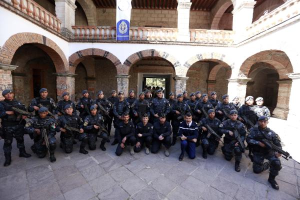 Policías federales reciben capacitación de la Gendarmería fancesa