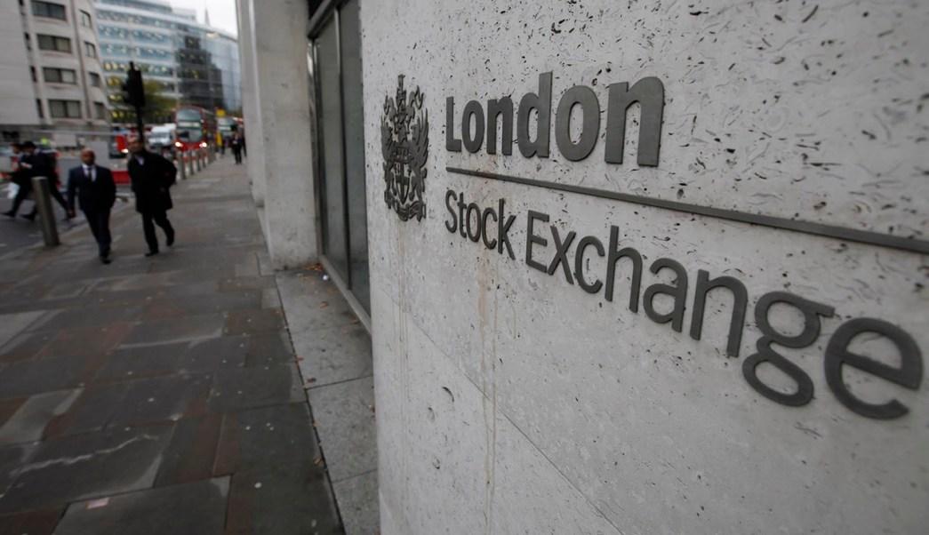 Fachada de la Bolsa de Londres