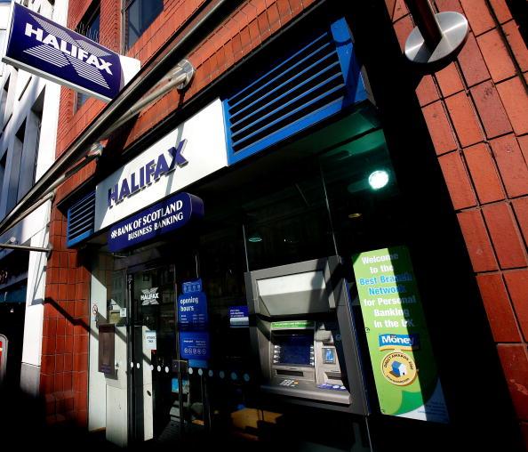 Vista de una sucursal del banco Halifax Bank of Scotland en Londres (Getty Images)