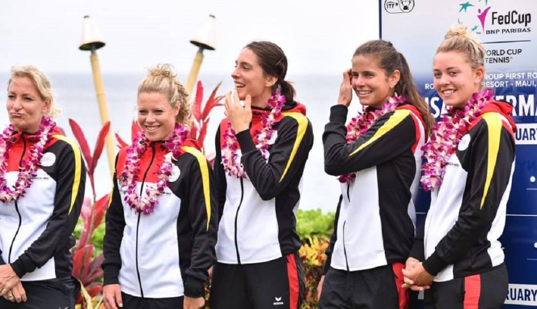 Las integrantes de la selección de Tenis alemana expresaron su indignación cuando escucharon la versión de su himno nacional entonada en la Copa Federación de tenis.