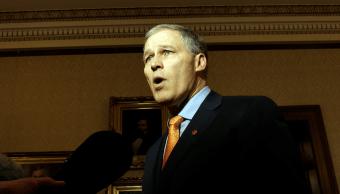 Jay Inslee, gobernador del estado de Washington, Estados Unidos.