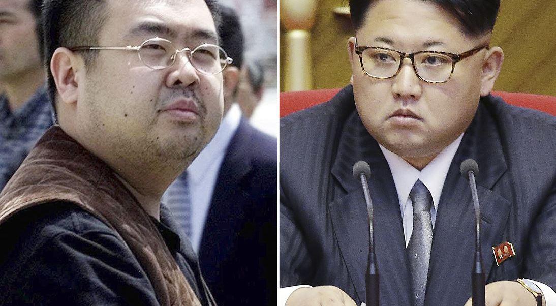 Kim Jong Nam y Kim Jong Un, líder de Corea del Norte.. (AP)