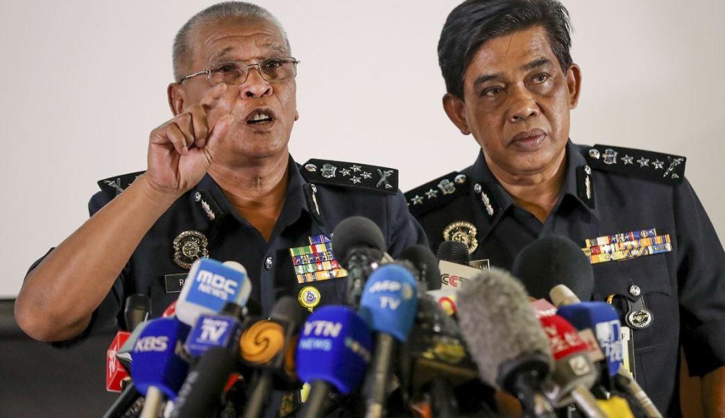 Conferencia de prensa de autoridades malasias en torno al caso Kim Jong Nam. (AP)