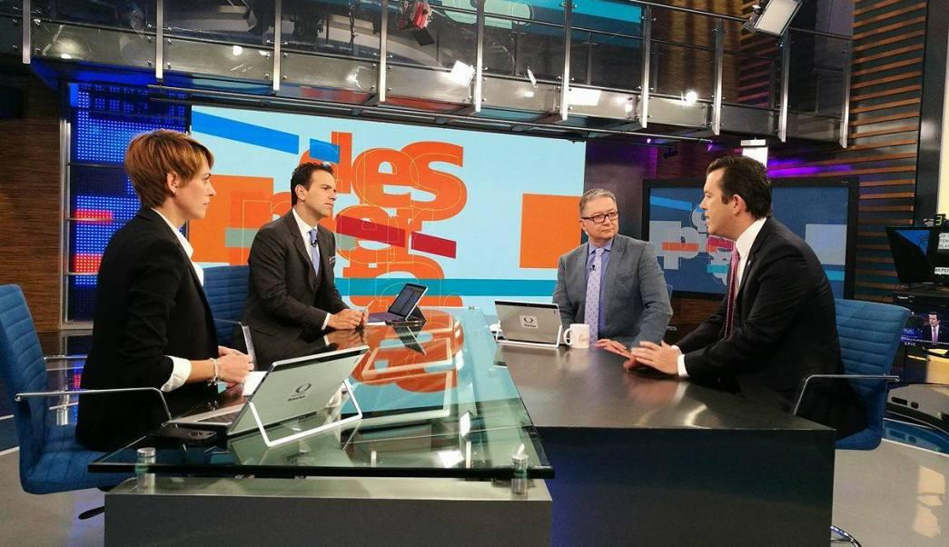 Larry Rubin, representante del Partido Republicano en México, en el estudio de Despierta con Loret (Noticieros Televisa)