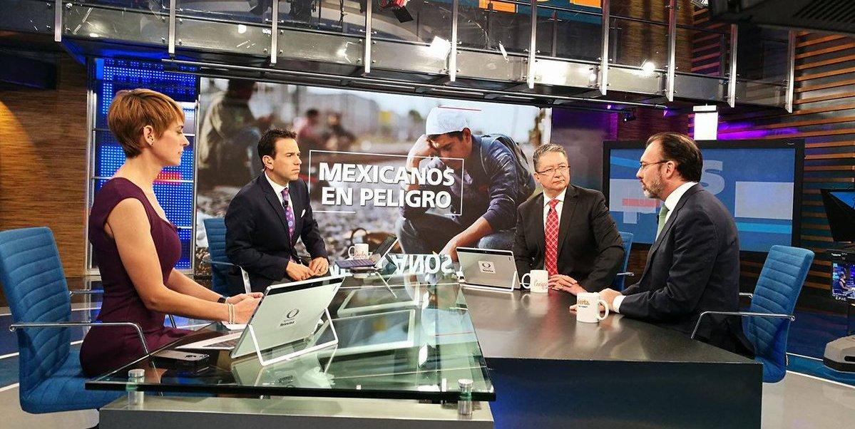 Luis Videgaray en Despierta con Loret. (Noticieros Televisa)