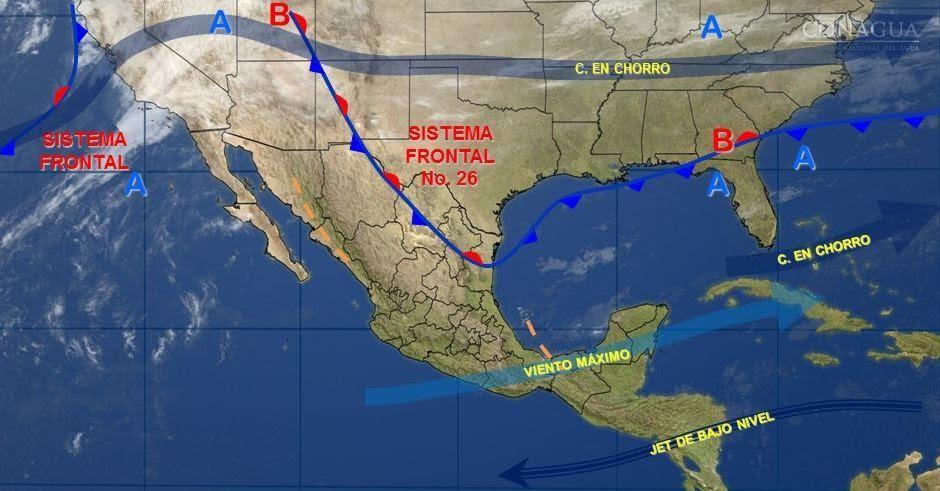 Mapa con el pronóstico del clima para este 3 de febrero; habrá bajas temperaturas en el noreste de México. (SMN)