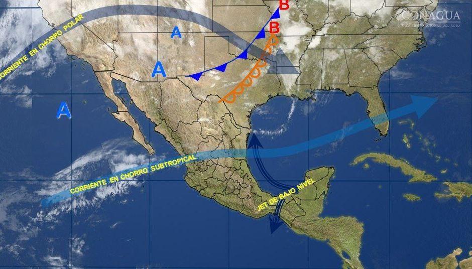 Mapa con el pronóstico del clima para este 7 de febrero; suben las temperaturas en México. (SMN)