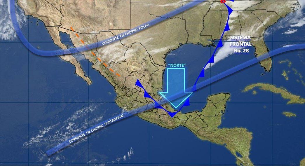 Mapa con el pronóstico del clima para este 15 de febrero; seguirán las bajas temperaturas en México. (SMN)