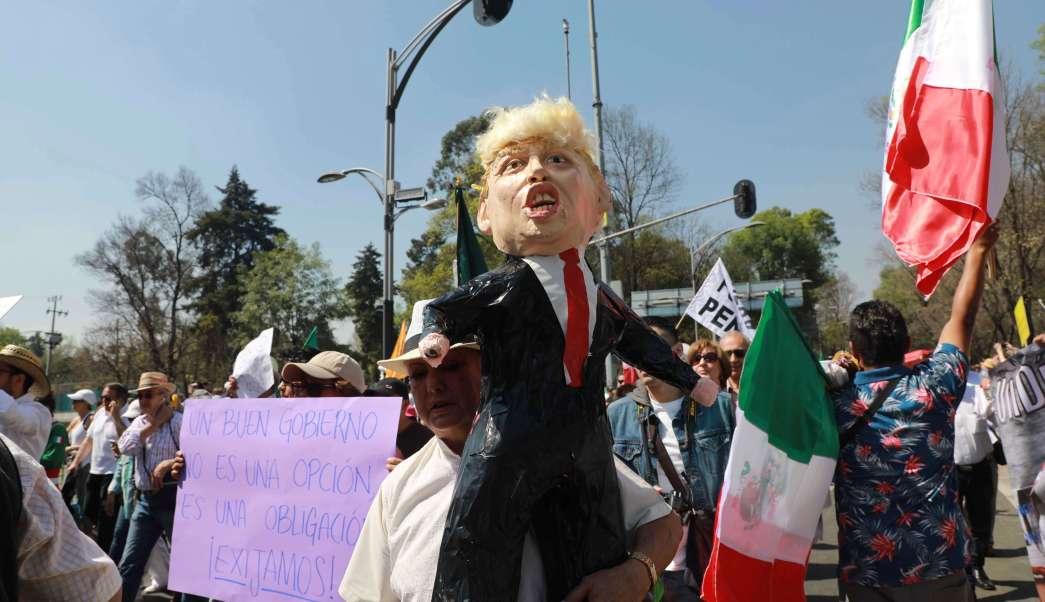 Marcha contra Donald Trump en la CDMX (AP, archivo)