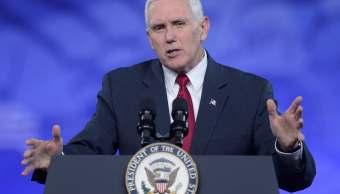Mike Pence, vicepresidente de Estados Unidos, durante la conferencia CPAC.