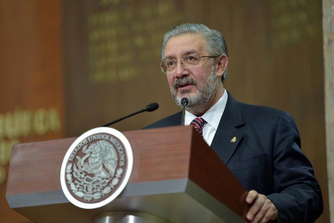 El ministro, Luis María Aguilar Morales, presidente de la Suprema Corte de Justicia de la Nación (SCJN) (Presidencia)