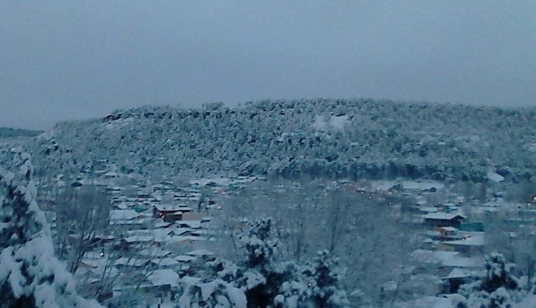 Debido a la octava tormenta invernal y el frente frío número 29 se registran nevadas en Chihuahua. (Notimex)