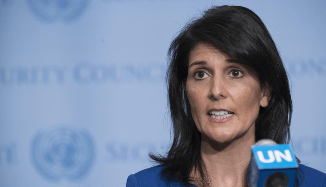 Nikki Haley, embajadora de Estados Unidos ante Naciones Unidas. (AP)