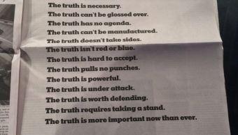La verdad está bajo ataque: The New York Times
