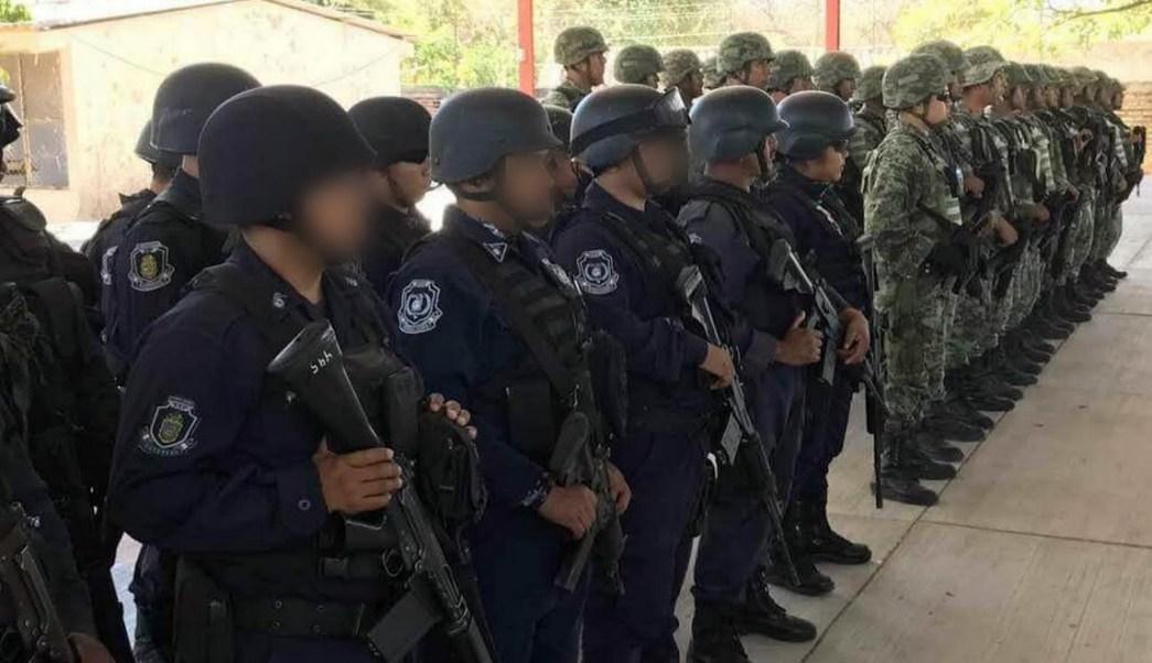 Elementos del Ejército Mexicano y de la Policía Estatal reforzaron el operativo de seguridad en el municipio de San Miguel Totolapan