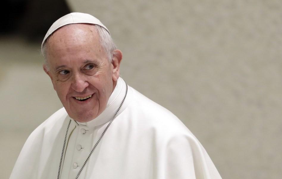 El papa Francisco durante una audiencia en el Salón Pablo VI, en el Vaticano (AP, archivo)