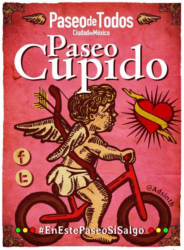 Paseo Cupido en la CDMX. (Twitter @PaseodeTodos)