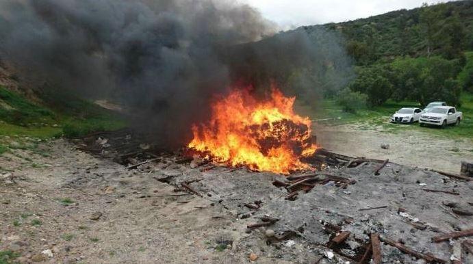 La incineración se realizó en las instalaciones del 28vo Batallón de Infantería, ubicado en la ciudad de Tijuana (Twitter/@ObservadorDeBCN )