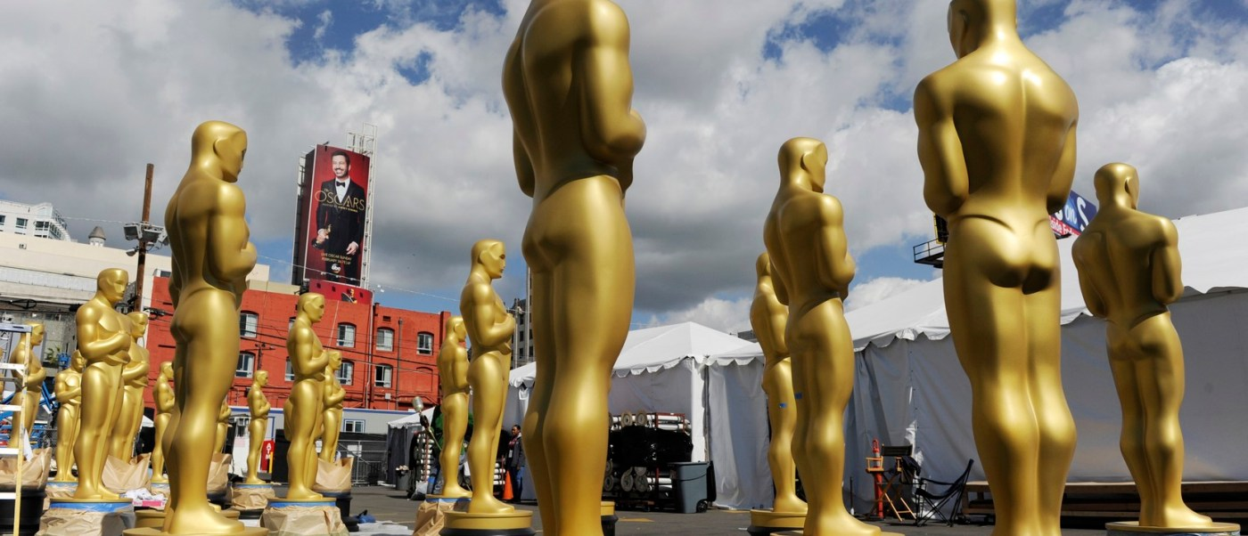 Preparativos para la entrega de los Premios Oscar. (AP)