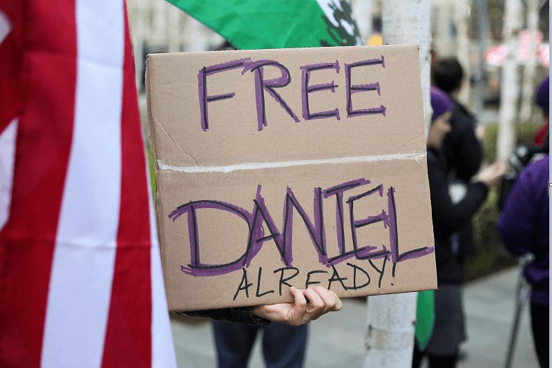 Protestas a favor de Daniel Ramírez Medina, el dreamer de origen mexicano, detenido por las autoridades migratorias de EU. (Reuters, archivo)