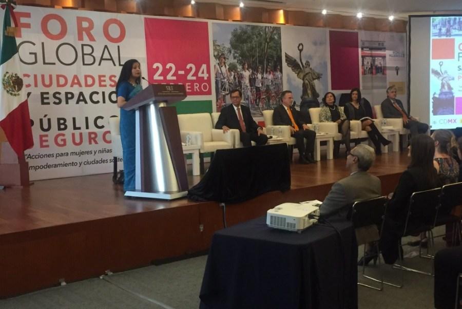Los subsecretarios Roberto Campa, de Derechos Humanos de Segob, y Miguel Ruiz, de Asuntos Multilaterales y Derechos Humanos de la SRE, participaron en el Tercer Foro Global Ciudades y Espacios Públicos Seguros para las Mujeres en la CDMX.