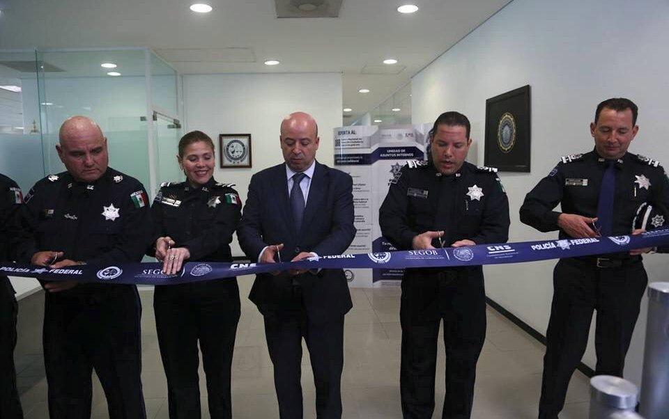El comisionado Nacional de Seguridad, Renato Sales Heredia inaugura la Segunda Oficina Regional de la Policía Federal, Zona Noreste, en Matamoros, Tamaulipas (Twitter @ManelichCC)