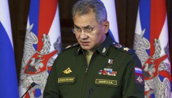 """Los 'intentos de construir un diálogo con Rusia desde una posición de fuerza son fútiles""""', asegura Sergei Shoigu. (AP, archivo)"""