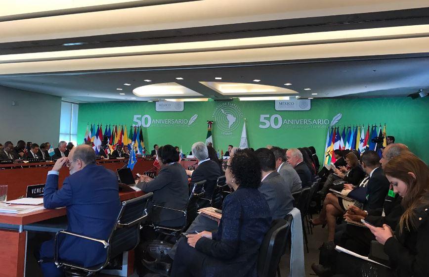 Sesión de la Organismo para la Proscripción de las Armas Nucleares en la América Latina y el Caribe (Twitter OPANAL)