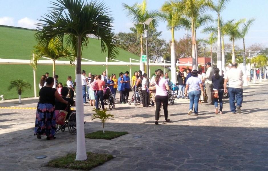 Simulacro de sismo en Chiapas