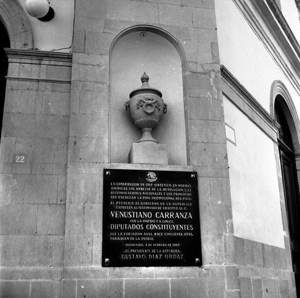 La Constitución de 1917 fue promulgada en el Teatro de la República de Querétaro. (Getty imafes, archivo)