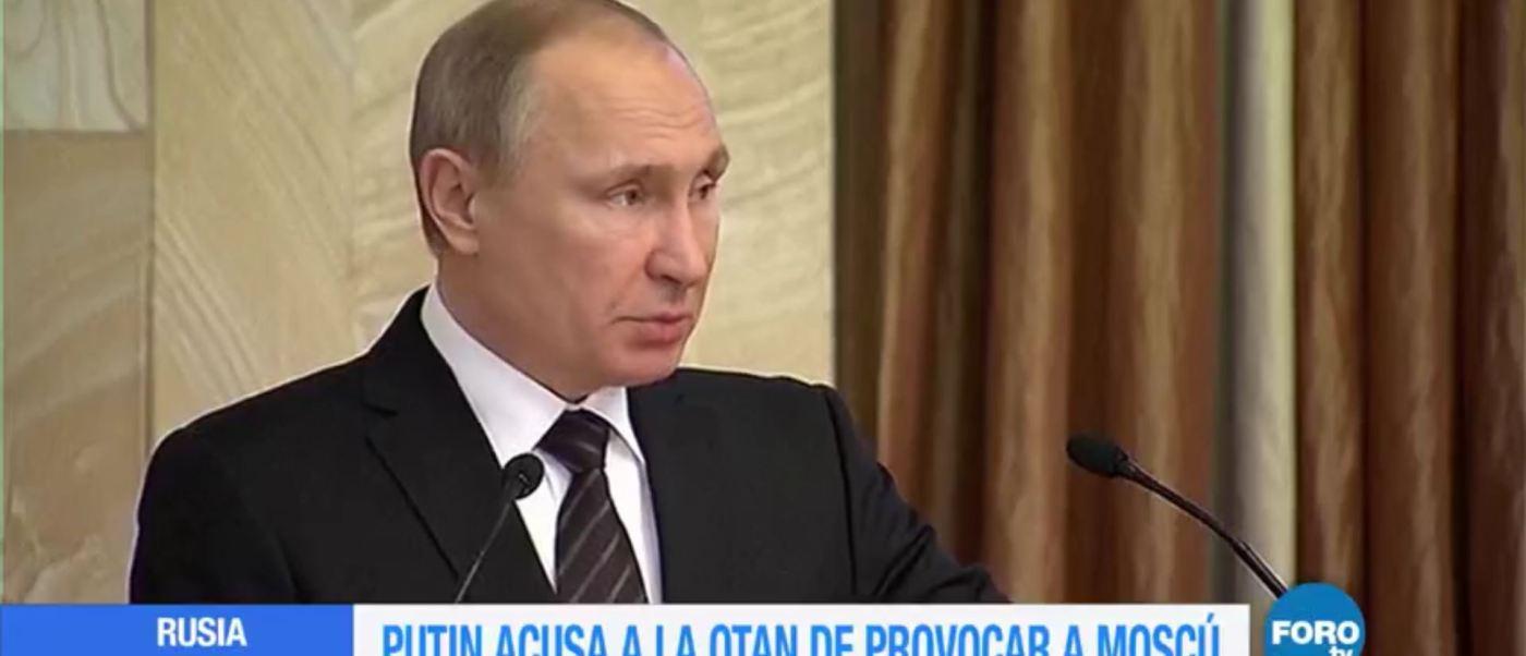 Vladimir Putin acusa a la OTAN de provocar a Moscú