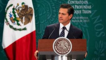 Pemex formalizó su primera alianza para la exploración y extracción del Bloque Trión (Facebook: @PresidenciaMX)