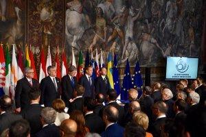 En Roma participan los 27 jefes de Estado y de Gobierno de los países de la UE
