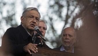 Andres Manuel Lopez Obrador, durante un evento en Los Angeles, EU. (Getty Images, archivo)