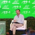 Luis Videgaray, secretario de Relaciones Exteriores, durante su participación la 80 Convención Nacional Bancaria, en Acapulco, Guerrero. (Getty Images)