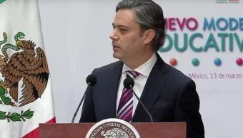 Aurelio Nuño, secretario de Educación Pública, hace la presentación oficial del nuevo modelo educativo (Presidencia de la República)
