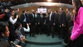 Con 40 votos a favor de los Legisladores locales, González Garza rindió protesta de su nuevo cargo, la noche del miércoles.