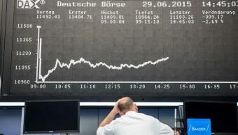 Tablero de la Bolsa de Frankfurt. (Getty Images, archivo)