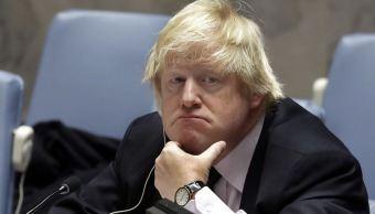 El ministro británico de Relaciones Exteriores, Boris Johnson, escucha a los delegados en el Consejo de Seguridad de las Naciones Unidas sobre Somalia. (AP)