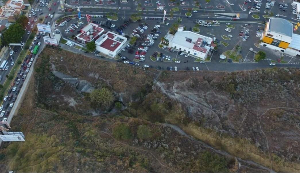 Vista aérea de la etapa 3 del Bosque Los Colomos, en Zapopan, Jalisco; el gobierno estatal recupera 12 hectáreas del parque invadidas por particulares (Twitter @AristotelesSD)