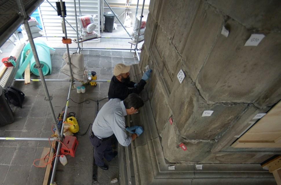 Se han abierto tres calas estratigráficas para identificar el tipo de cimentación (Foto: INAH)
