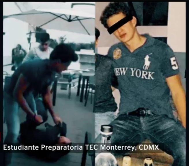 Testimonios identifican a dos jóvenes de 'Los Centinelas' como estudiantes de preparatoria en el Tec de Monterrey, campus Ciudad de México; dicen que las agresiones comenzaron antes de mayo de 2016. (Noticieros Televisa)