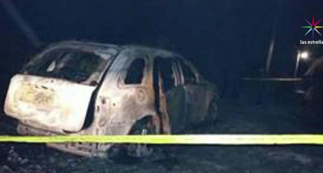 Hallan vehículo calcinado con cinco cuerpos en Chilapa, Guerrero. (Noticieros Televisa)