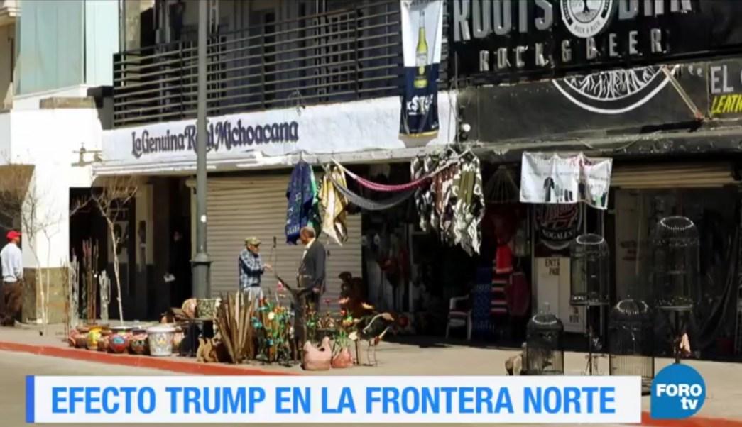 Los primeros en percibir el efecto Trump son quienes ofrecen servicios y mercancías en la frontera norte. (FOROtv)