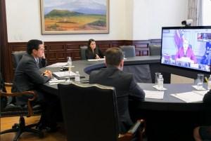 Los presidentes de Colombia, Chile y Perú expresaron su solidaridad con México por los retos que enfrenta en el marco del actual escenario internacional. (Twitter @ESanchezHdz)
