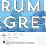 Cuenta de Twitter de los arrepentidos de Trump. (Twitter @Trump_Regrets)