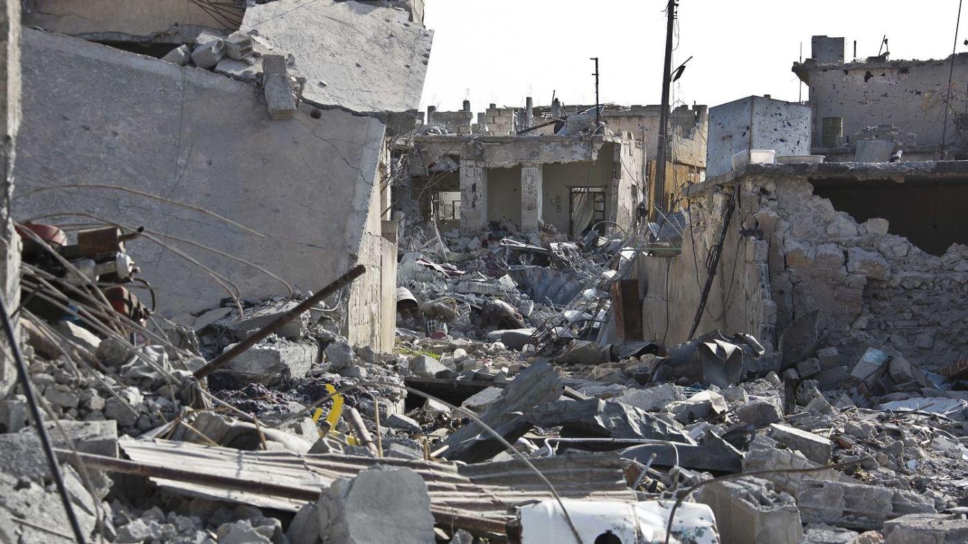 Destrucción en Siria tras combates con el Estado Islamico (Ap, 2014)