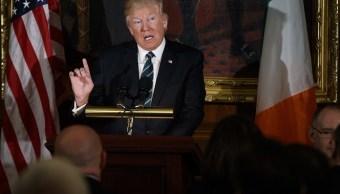Donald Trump, presidente de Estados Unidos, en conferencia.
